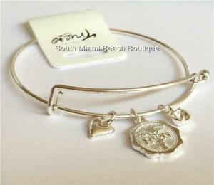 Nursing RN Caduceus Charm Bracelet Heart Graduation Gift Silver Plated