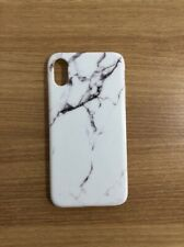 iphone X White Marble (Silicon) phone case