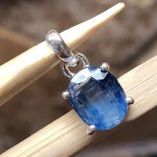Natural Royal Blue Kyanite 925 Solid Sterling Silver Pendant 15mm Long