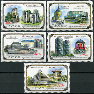 KOREA - 2012 - SET OF 5 STAMPS MNH ** - Buildings in Moscow and Pyongyang