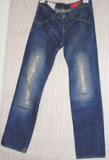 Dondup Jeans Style-Clay ITALY  Ripped Denim Blue Jeans Men's Pants Size:32