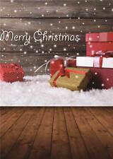 Merry Christmas Background Photo Wooden Floor Photography Backdrops Vinyl 5x7FT