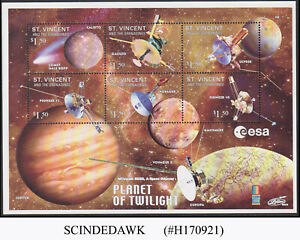 ST. VINCENT GRENADINES - 2000 PLANET OF TWILIGHT / SPACE - MIN. SHEET MINT NH