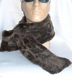 NEW! GREY Sheepskin, WARM & thick scarf Unisex Real Shearling Lambskin by Katz