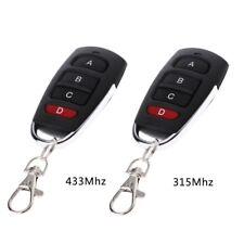315/433MHz Wireless Remote Controller 4 Button Copy Cloning Electric Garage Door
