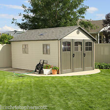 New! LARGE Outdoor Garden Shed 11 x 18 ft. Tri-Fold Door Window Storage Unit