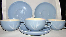Winfield BLUE PACIFIC Bamboo Vintage Cup & Saucer Set of 3 Discontinued