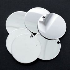 25 x Stainless Steel 30mm x 1mm Round Blank Stamping Tags Pendants Mirror Finish