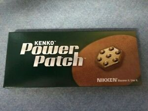 1 BOX OF 30 NIKKEN KENKO POWER PATCH 24K GOLD 750 GAUSS MAGNETS - NEW IN BOX