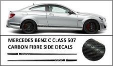 AMG Edición C63 507 Pegatinas Calcomanías de lado de fibra de carbono-Mercedes Benz Clase C