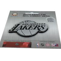 NBA Los Angeles LA Lakers Real Chrome Metal 3D Car Truck Emblem Sticker Decal