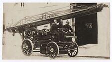 PHOTO ANCIENNE Pompier Voiture de pompiers échelle automobile électrique 1901