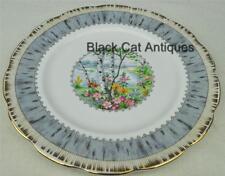"Lovely Royal Albert Silver Birch Bone China 7"" Dessert Plate Made In England"