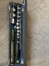 Vintage  Boehm system wooden flute with Bakelite Headjoint