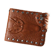 Alligator Crocodile Brown Color Men's Wallet Bri-Fold Billfold, AL-B