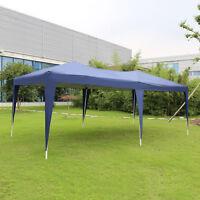 10'x20' Canopy Wedding Party Tent Heavy Duty Outdoor Garden Gazebo, White/Blue