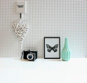 £16.89 /m2 Mosaic Pure White High Gloss Tiles 60X30 Wall Kitchen-Bathroom SAMPLE
