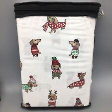 Cynthia Rowley 2 Pillowcase Set Holiday Dachshund Doxie Weiner Dog 100% Cotton