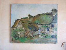 HST Huile sur toile Chaumière René Leforestier 1903-1972