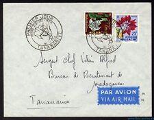█ MADAGASCAR Enveloppe 1er Premier jour TANANARIVE Flore d'outre Mer 31/01/1959