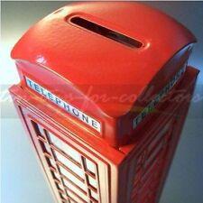 BRITISCHE ROTE TELEFONZELLE ALS SPARDOSE 18,5 CM HOCH