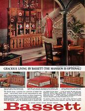 Bassett Furniture Leo Jiranek Design FACADE GROUP Ceil Chapman Gown 1964 Ad