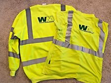 2XL Waste Management HI-VIS Sweatshirt T Shirt Bundle Reflective Material Work