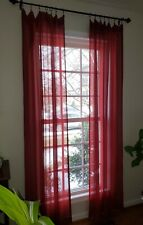 Jc Penney Home Chris Madden Sheer Curtains Red - 2 pair (4 panels)