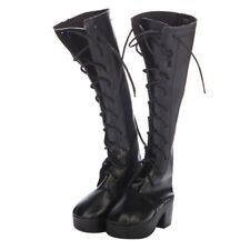 Trendy Doll Garment Boots Shoes for 1/3 BJD Dollfie MSD AS Doll Black