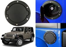 Black Fuel Door Gas Cap Lid Cover For 2007-2018 Jeep Wrangler JK New Free Ship