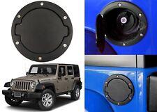 Black Fuel Tank Door Gas Cap Lid Cover For 2007-2018 Jeep Wrangler Accessories