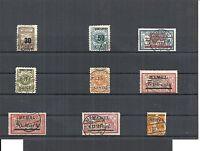Memel. Litauen 1923, Einzelmarken aus MiNrn: 36 - 205 o, gestempelt, alle Mängel