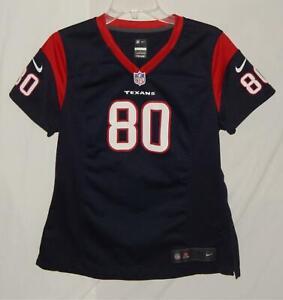NIKE Houston Texans Andre Johnson #80 Navy Blue On Field NFL Football Jersey M