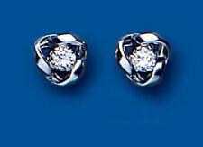 Pendientes de joyería con gemas mariposas blanco