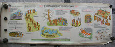 Wall Art History Fries Christianity Europe 139x50 Vintage History Wall Map 1965