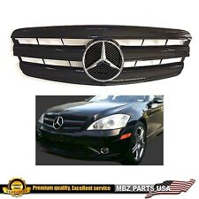S-Class all black grille star bumper W221 AMG S550 S63 S450 2007 2008 2009 Gloss