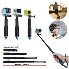 for GoPro Hero 4 3 2 Mini Selfie Stick Waterproof Monopod Extendable Pole Blue