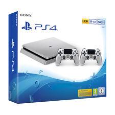 SONY PS4 CONSOLE 500 GB D CHASSIS SILVER + 2 DUALSHOCK 4 SILVER V2  NOVITA' 2017