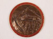 "Vintage Bronze Rally Plaque Medal Participant ""NACHT VAN ST-NIKLAAS 1966"""