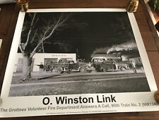 """O Winston Link Poster Grottoes Fire Dept  27"""" X 31"""". Beautiful .."""