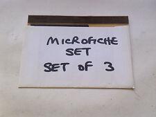 MORRIS MARINA RANGE (OCT 1975 ON) MICROFICHE SLIDE SET OF 3 (D156)