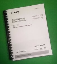 """LASER 8.5X11"""" Sony CX200 Digital HDR Video Camera 155 Page Owners Manual Guide"""