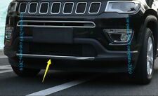 ABS Front Bumper Lower Guard Insertion Cover Trim fit For Jeep Compass 2017-2018