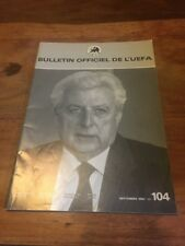Official UEFA Bulletin Magazine #104 - September 1983