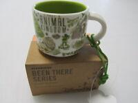Disney Starbucks Animal Kingdom 2oz Mini Mug Ornament Been There Park +FREE GIFT