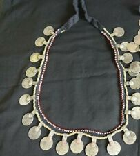 Belly Dance Tribal Coin Black Cord Belt