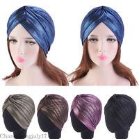 Muslim Women Soild Indian Hat Turban Beanie Headwear Hair Loss Scarf Cancer Caps
