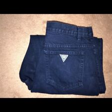 Vtg Guess Dark Blue Denim Jeans Men's Sz 34x34 Vintage 80's 90's