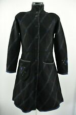 Gudrun Sjoden Womens Coat Padded Collared Woolen Long Jacket 100% Wool Size S