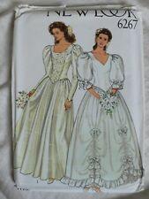 Vintage 1990s New Look 6267 Wedding Dress Sewing Pattern 8-18 Uncut RARE
